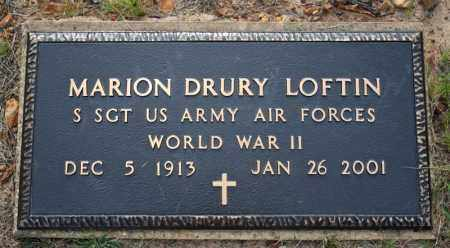 LOFTIN  (VETERAN WWII), MARION DRURY - Searcy County, Arkansas | MARION DRURY LOFTIN  (VETERAN WWII) - Arkansas Gravestone Photos