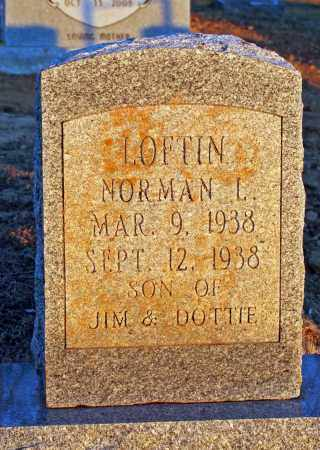 LOFTIN, NORMAN LADON - Searcy County, Arkansas | NORMAN LADON LOFTIN - Arkansas Gravestone Photos