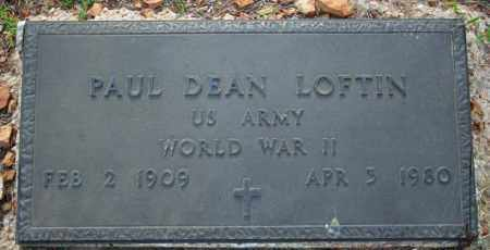 LOFTIN  (VETERAN WWII), PAUL DEAN - Searcy County, Arkansas | PAUL DEAN LOFTIN  (VETERAN WWII) - Arkansas Gravestone Photos