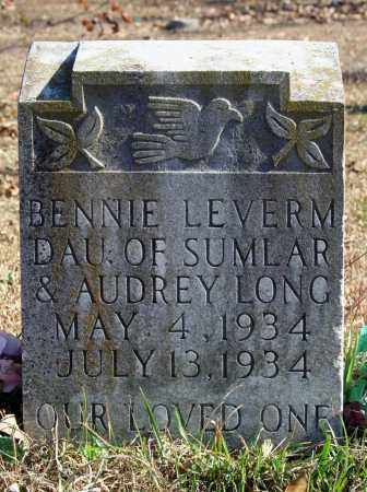 LONG, BENNIE LEVERM - Searcy County, Arkansas | BENNIE LEVERM LONG - Arkansas Gravestone Photos