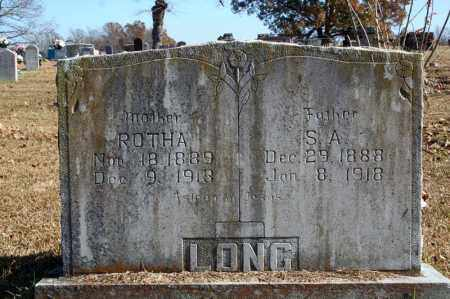 LONG, S. A. - Searcy County, Arkansas | S. A. LONG - Arkansas Gravestone Photos
