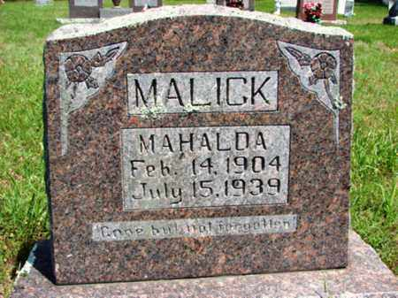 MALICK, MAHALDA - Searcy County, Arkansas | MAHALDA MALICK - Arkansas Gravestone Photos