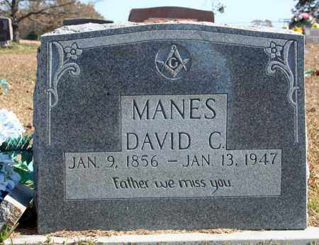MANES, DAVID C. - Searcy County, Arkansas | DAVID C. MANES - Arkansas Gravestone Photos
