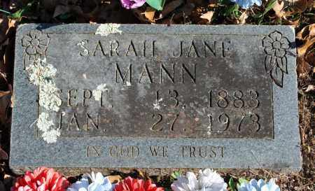 MANN, SARAH JANE - Searcy County, Arkansas | SARAH JANE MANN - Arkansas Gravestone Photos
