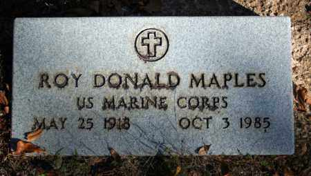 MAPLES (VETERAN), ROY DONALD - Searcy County, Arkansas | ROY DONALD MAPLES (VETERAN) - Arkansas Gravestone Photos