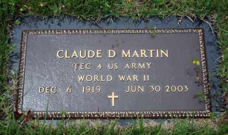 MARTIN (VETERAN WWII), CLAUDE D - Searcy County, Arkansas | CLAUDE D MARTIN (VETERAN WWII) - Arkansas Gravestone Photos