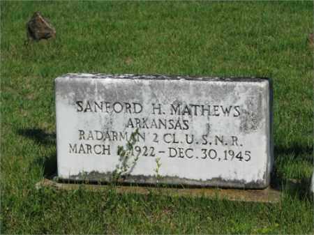 MATHEWS (VETERAN WWII), SANFORD H - Searcy County, Arkansas | SANFORD H MATHEWS (VETERAN WWII) - Arkansas Gravestone Photos
