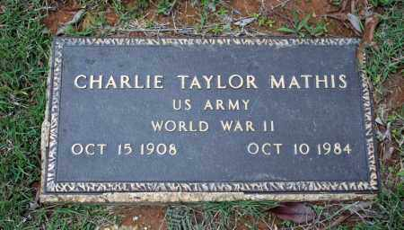 MATHIS (VETERAN WWII), CHARLIE TAYLOR - Searcy County, Arkansas | CHARLIE TAYLOR MATHIS (VETERAN WWII) - Arkansas Gravestone Photos