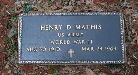 MATHIS (VETERAN WWII), HENRY D - Searcy County, Arkansas | HENRY D MATHIS (VETERAN WWII) - Arkansas Gravestone Photos