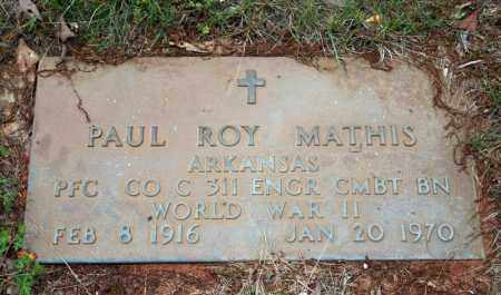 MATHIS (VETERAN WWII), PAUL ROY - Searcy County, Arkansas | PAUL ROY MATHIS (VETERAN WWII) - Arkansas Gravestone Photos