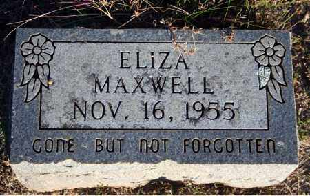MAXWELL, ELIZA - Searcy County, Arkansas | ELIZA MAXWELL - Arkansas Gravestone Photos