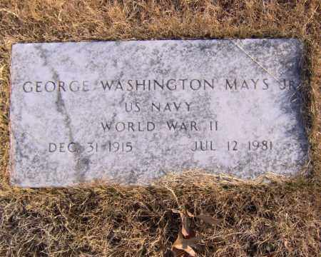 MAYS, JR (VETERAN WWII), GEORGE WASHINGTON - Searcy County, Arkansas | GEORGE WASHINGTON MAYS, JR (VETERAN WWII) - Arkansas Gravestone Photos