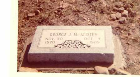 MCALISTER, GEORGE J. - Searcy County, Arkansas | GEORGE J. MCALISTER - Arkansas Gravestone Photos
