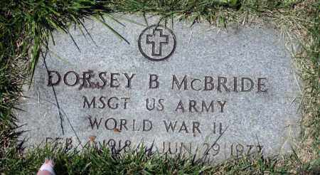 MCBRIDE (VETERAN WWII), DORSEY B - Searcy County, Arkansas | DORSEY B MCBRIDE (VETERAN WWII) - Arkansas Gravestone Photos