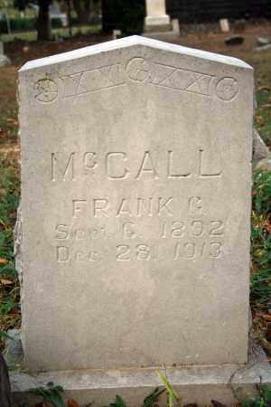 MCCALL, FRANK G. - Searcy County, Arkansas | FRANK G. MCCALL - Arkansas Gravestone Photos