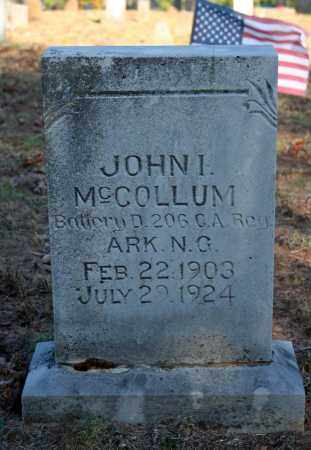MCCOLLUM (VETERAN), JOHN I - Searcy County, Arkansas | JOHN I MCCOLLUM (VETERAN) - Arkansas Gravestone Photos
