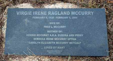 RAGLAND MCCURRY, VIRGIE IRENE - Searcy County, Arkansas | VIRGIE IRENE RAGLAND MCCURRY - Arkansas Gravestone Photos