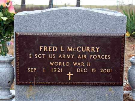 MCCURRY (VETERAN WWII), FRED L - Searcy County, Arkansas | FRED L MCCURRY (VETERAN WWII) - Arkansas Gravestone Photos