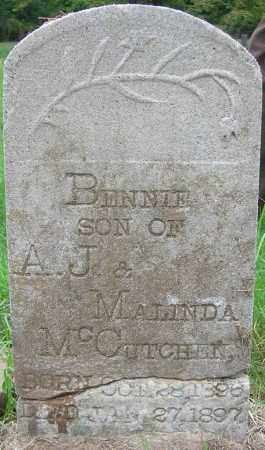 MCCUTCHEN, BENNIE - Searcy County, Arkansas | BENNIE MCCUTCHEN - Arkansas Gravestone Photos