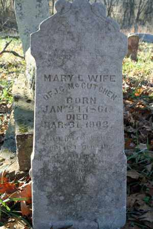 MCCUTCHEN, MARY L. - Searcy County, Arkansas | MARY L. MCCUTCHEN - Arkansas Gravestone Photos