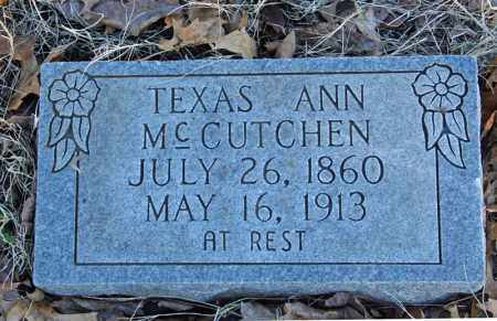 MCCUTCHEN, TEXAS ANN - Searcy County, Arkansas | TEXAS ANN MCCUTCHEN - Arkansas Gravestone Photos
