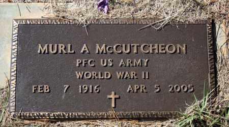MCCUTCHEON (VETERAN WWII), MURL A - Searcy County, Arkansas | MURL A MCCUTCHEON (VETERAN WWII) - Arkansas Gravestone Photos