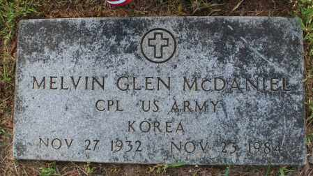 MCDANIEL (VETERAN KOR), MELVIN GLEN - Searcy County, Arkansas | MELVIN GLEN MCDANIEL (VETERAN KOR) - Arkansas Gravestone Photos