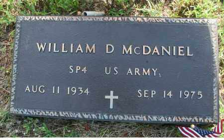 MCDANIEL  (VETERAN), WILLIAM D - Searcy County, Arkansas | WILLIAM D MCDANIEL  (VETERAN) - Arkansas Gravestone Photos