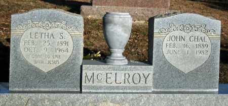 MCELROY, JOHN CHAL - Searcy County, Arkansas | JOHN CHAL MCELROY - Arkansas Gravestone Photos