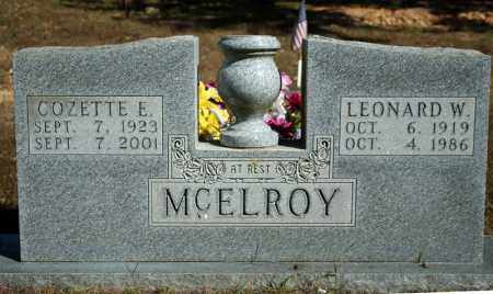 MCELROY, LEONARD W. - Searcy County, Arkansas | LEONARD W. MCELROY - Arkansas Gravestone Photos