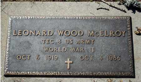 MCELROY (VETERAN WWII), LEONARD WOOD - Searcy County, Arkansas | LEONARD WOOD MCELROY (VETERAN WWII) - Arkansas Gravestone Photos