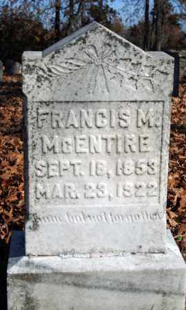 MCENTIRE, FRANCIS M. - Searcy County, Arkansas | FRANCIS M. MCENTIRE - Arkansas Gravestone Photos