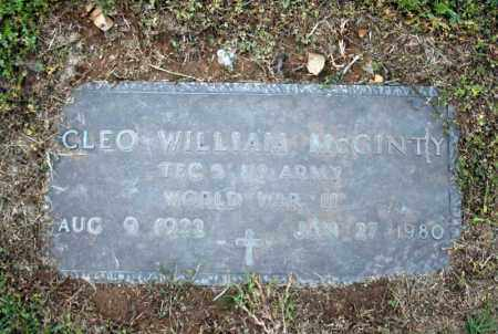 MCGINTY (VETERAN WWII), CLEO WILLIAM - Searcy County, Arkansas | CLEO WILLIAM MCGINTY (VETERAN WWII) - Arkansas Gravestone Photos