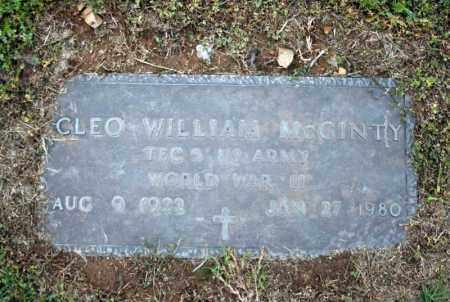 MCGINTY (VETERAN WWII), CLEO WILLIAM - Searcy County, Arkansas | CLEO WILLIAM MCGINTY (VETERAN WWII) - Arkansas Gravestone Photos