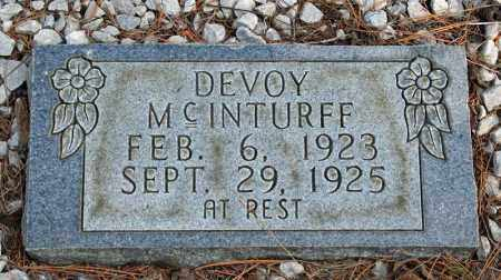 MCINTURFF, DEVOY - Searcy County, Arkansas | DEVOY MCINTURFF - Arkansas Gravestone Photos