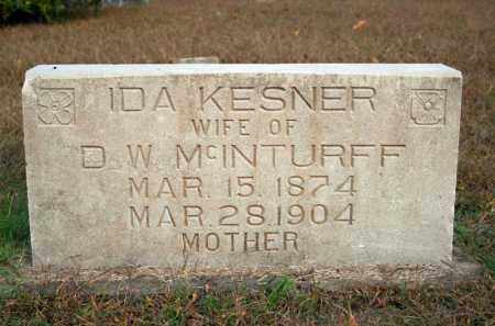 KESNER MCINTURFF, IDA - Searcy County, Arkansas | IDA KESNER MCINTURFF - Arkansas Gravestone Photos