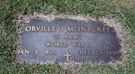 MCINTURFF (VETERAN WWI), ORVILLE J - Searcy County, Arkansas | ORVILLE J MCINTURFF (VETERAN WWI) - Arkansas Gravestone Photos