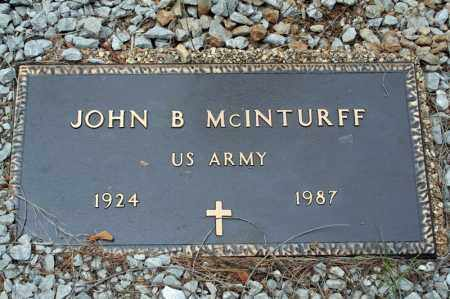 MCINTURFF (VETERAN WWII), JOHN B - Searcy County, Arkansas | JOHN B MCINTURFF (VETERAN WWII) - Arkansas Gravestone Photos