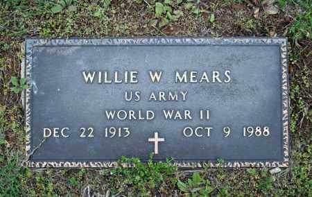 MEARS (VETERAN WWII), WILLIE W - Searcy County, Arkansas | WILLIE W MEARS (VETERAN WWII) - Arkansas Gravestone Photos