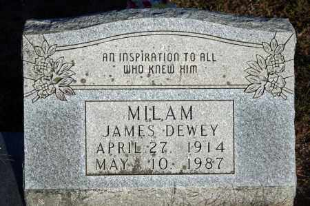 "MILAM, JAMES ""DEWEY"" - Searcy County, Arkansas 