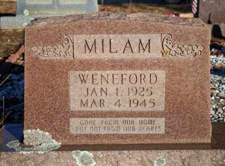 MILAM, WENEFORD - Searcy County, Arkansas | WENEFORD MILAM - Arkansas Gravestone Photos