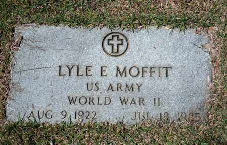 MOFFITT (VETERAN WWII), LYLE E - Searcy County, Arkansas | LYLE E MOFFITT (VETERAN WWII) - Arkansas Gravestone Photos