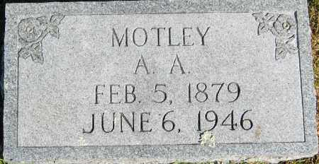 MOTLEY, ALBERT ANDERSON - Searcy County, Arkansas | ALBERT ANDERSON MOTLEY - Arkansas Gravestone Photos
