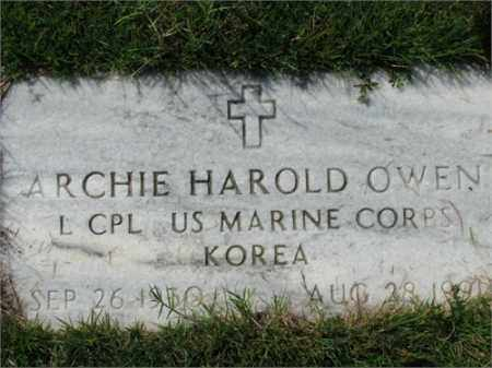 OWEN (VETERAN KOR), ARCHIE HAROLD - Searcy County, Arkansas | ARCHIE HAROLD OWEN (VETERAN KOR) - Arkansas Gravestone Photos