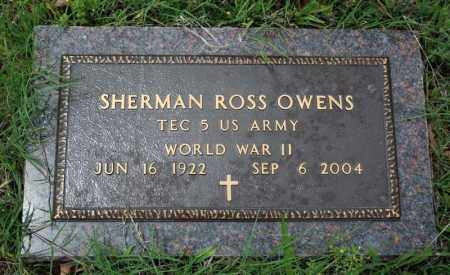 OWENS (VETERAN WWII), SHERMAN ROSS - Searcy County, Arkansas | SHERMAN ROSS OWENS (VETERAN WWII) - Arkansas Gravestone Photos