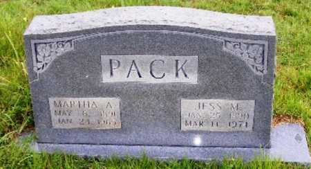 PACK, MARTHA A. - Searcy County, Arkansas | MARTHA A. PACK - Arkansas Gravestone Photos