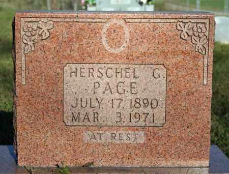 PAGE, HERSCHEL G. - Searcy County, Arkansas | HERSCHEL G. PAGE - Arkansas Gravestone Photos