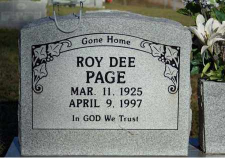 PAGE, ROY DEE - Searcy County, Arkansas | ROY DEE PAGE - Arkansas Gravestone Photos