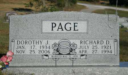PAGE, RICHARD D. - Searcy County, Arkansas | RICHARD D. PAGE - Arkansas Gravestone Photos