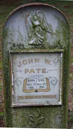 PATE, JOHN W. - Searcy County, Arkansas | JOHN W. PATE - Arkansas Gravestone Photos